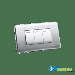 Interruptor Triple Genemax Aluminio GM86D-3SD