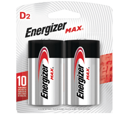 Pila Alcalina Energizer Max D 2unds