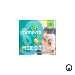 Pañales Pampers M 24 Unidades