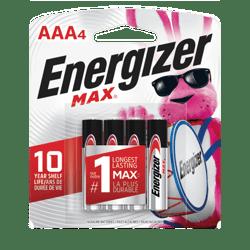 Pila Alkalina Energizer Max AAA 4unds