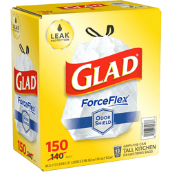 Bolsas Glad Force Flex 13gal 150unds