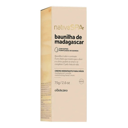 Crema Hidratante para Manos Nativa Spa Vainilla de Madagascar 75 gr