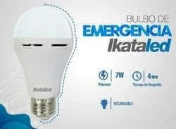 Bombillo Led 7w Emergencia Recargable E27 6500k blanco Ikataled